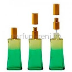 Флакон Ирис 50мл зеленый (спрей люкс золото)