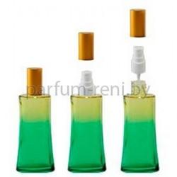 Флакон Ирис 50мл зеленый (спрей полулюкс золото)