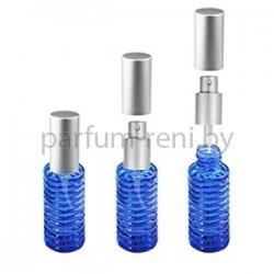 Флакон Спираль 20мл синий (спрей люкс серебро)