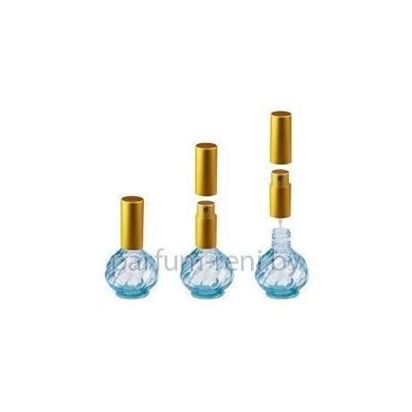 Флакон Глория 13мл голубой (микроспрей золото)