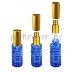Флакон Спираль 20мл синий (спрей люкс золото)