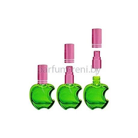 Флакон Эпл 15мл зеленый (микроспрей розовый)