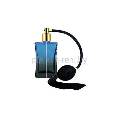 Флакон Да Винчи 50мл синий (груша с кисточкой золото)