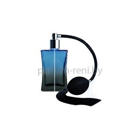 Флакон Да Винчи 50мл синий (груша с кисточкой серебро)