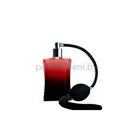 Флакон Дали 50мл красный (груша с кисточкой серебро)
