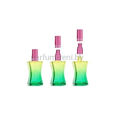 Флакон Призма 20мл зеленый (микроспрей розовый)