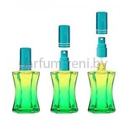 Флакон Призма 20мл зеленый (микроспрей голубой)
