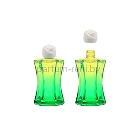 Флакон Призма 20мл зеленый (крышка роза)
