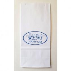Пакет из белой бумаги 8*17см с логотипом Рени 5шт