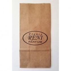 Пакет из крафтовой бумаги 8*17см с логотипом Рени 5шт