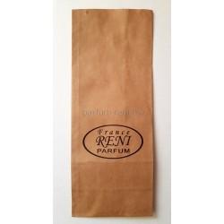 Пакет из крафтовой бумаги 9*23см с логотипом Рени 5шт