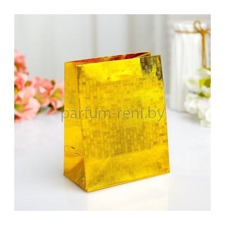 Пакет голографический 11*14см Золото