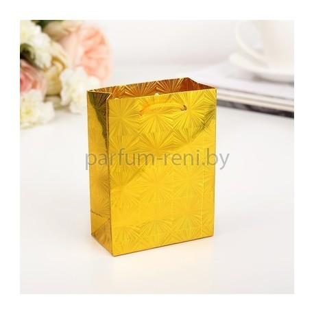 Пакет голографический 8*11см Золото