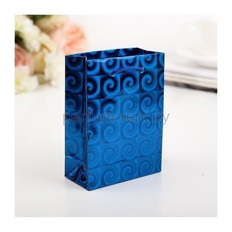 Пакет голографический 8*11см Синий