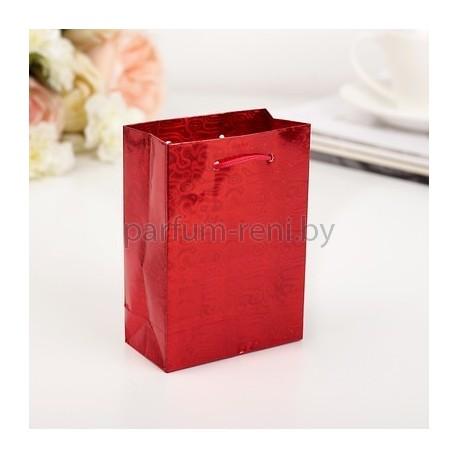 Пакет голографический 8*11см Красный