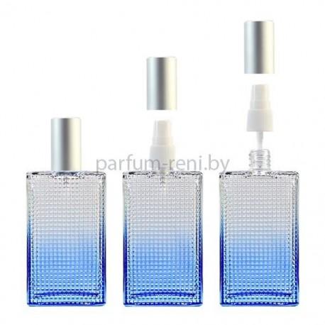 Флакон Престиж 100мл синий (спрей полулюкс серебро)