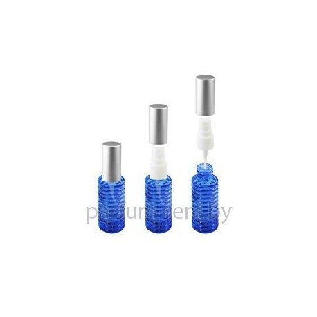 Флакон Спираль 20мл синий (спрей полулюкс серебро)