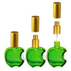 Флакон Эпл 15мл зеленый (микроспрей золото)