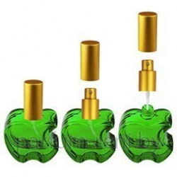 Флакон Эпл 20мл зеленый (микроспрей золото)