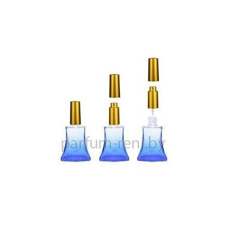 Флакон Франческа 20мл синий (микроспрей золото)