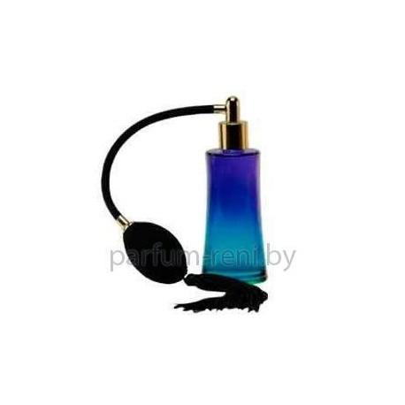Флакон Ирис 50мл голубой (груша с кисточкой золото)