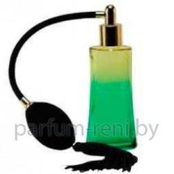 Флакон Ирис 50мл зеленый (груша с кисточкой золото)