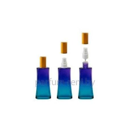 Флакон Ирис 50мл голубой (спрей полулюкс серебро)